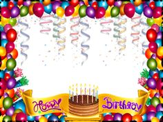 this png image cute happy birthday frame available for free transparent balloons picture clipart pictures Happy Birthday Frame, Happy Birthday Wallpaper, Happy Birthday Photos, Birthday Frames, Birthday Pictures, Birthday Blessings, Birthday Wishes Cards, Happy Birthday Messages, Birthday Greetings