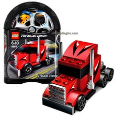 Lego Year 2006 Racers Series Tiny Turbos Car Set # 8664 - Rig Truck ROAD HERO (Total Pieces: 55)
