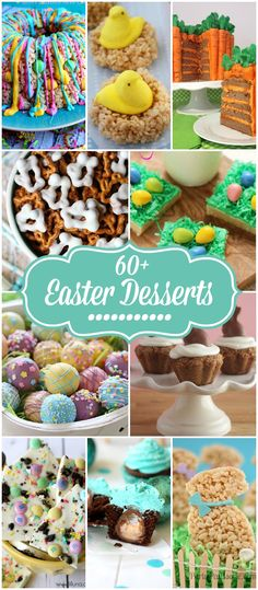 Thank You to Sarah Fisher for our Pin of the Day! Over 60 Easter Desserts! Cute Easter Desserts, Easter Deserts, Easter Treats, Holiday Desserts, Easter Recipes, Holiday Baking, Holiday Treats, Easter Dinner, Easter Brunch