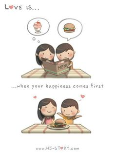 Check out the comic HJ-Story :: Love is. when your happiness comes first Dustin Hj Story, Love Is Comic, Cute Couple Comics, Couples Comics, Love Is When, What Is Love, Cute Love Stories, Love Story, Chibird
