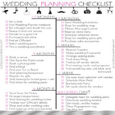 Sleepless in DIY Bride Country : Budget Bride Wedding Checklist ...