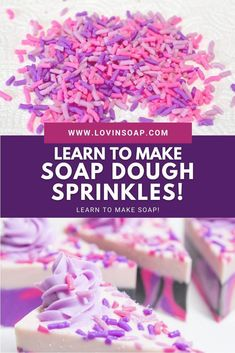 Read for this quick and easy DIY soap dough recipe + step-by-step tutorial for creating handmade cold process soap sprinkles! These are so enjoyable to make. See what fun kid's toy I get to use to make these! Click through to make soap! Sprinkles Recipe, Soap Cake, Whipped Soap, Shea Butter Soap, Shaving Soap, Recipe Steps, Goat Milk Soap, Cold Process Soap, Soap Recipes