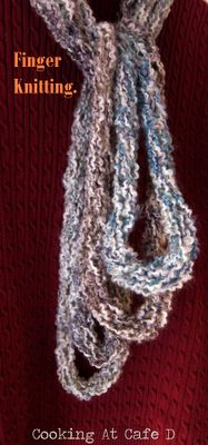 how to finish finger knitting