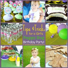 Tips & Tricks for a Girl's Puppy Dog Birthday Party | goldenreflections... #partytime #1stbirthday #girlsbirthdayparty