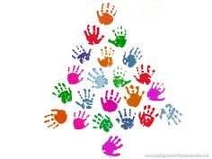 cute kids handprint tree