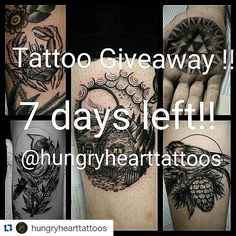 #Repost @hungryhearttattoos with @repostapp  Thank you guys for entering and ALL of the kind words. You guys are rad! Because of the awesome response I will now be picking 2 people instead of one. 7 days left before the draw! I'm giving away a free palm sized tattoo of your choice (Preferably blackwork) to be done by me! Here's how to enter! 1) repost this photo 2)tag me @hungryhearttattoos in your repost 3) hash tag #hungryhearttattoos in your repost 4) you must be following me Contest will…