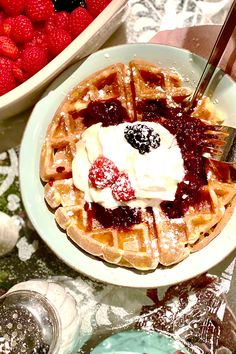 Create light fluffy waffles with deep pockets for filling with syrup and fruit by taking the extra step of separating the egg yolks from egg whites while making the batter. Fluffy Waffles, Belgian Waffles, Egg Yolks, Egg Whites, Recipe Of The Day, Summer Recipes, Syrup, Brunch, Yummy Food