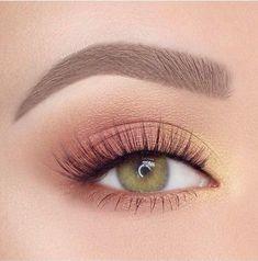 Makeup Eye Looks, Eye Makeup Art, Natural Eye Makeup, Makeup Set, Smokey Eye Makeup, Skin Makeup, Eyeshadow Makeup, Yellow Eyeshadow, Eyeshadow Palette