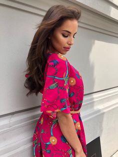 Hot Pink, Cold Shoulder Dress, High Neck Dress, Chain, Dresses, Fashion, Vestidos, Moda, Pink