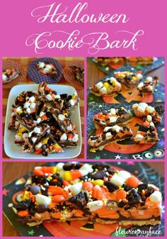 Halloween Cookie Bark, Halloween Bark, Halloween Treats, Halloween
