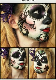 Day of the Dead Makeup with Spiderwebs