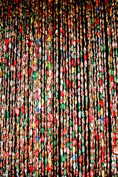 ... in a remote part of the interior of Dominica had this 'beaded' curtain made out of beer bottle caps