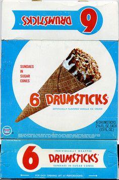 Frozen Drumstick Ice Cream Box Top - 1970 | Flickr: Intercambio de fotos