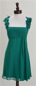 BCBG Max Azria  Shirred Chiffon Dress