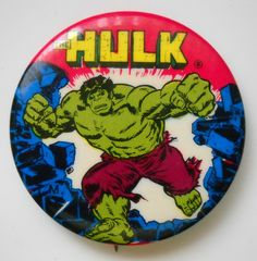 Vintage The Incredible Hulk Pinback Button 1975 | eBay
