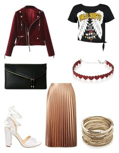 """pleated skirt"" by bethanyyk on Polyvore featuring Miss Selfridge, Boohoo, Betsey Johnson, Simons, Urban Expressions and Sole Society"
