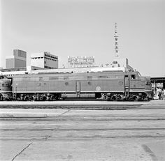 Title: [Texas & Pacific, Diesel Electric Passenger Locomotive No. 35]  Creator: DeGolyer, Everett L. (Everett Lee), 1923-1977  Date: May 31, 1969  Part of: Everett L. DeGolyer Jr. collection of United States railroad photographs  Place: Dallas, Texas  Physical Description: 1 negative: film, black and white; 6.4 x 6.3 cm  Railway Line: Texas & Pacific Railway  File: ag1982_0232_tp_00035_neg34832_sm_c_opt.jpg  Rights: Please cite DeGolyer Library, Southern Methodist University when usin...