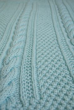 """I wanted to share a quick look at my latest knitting project – a blanket for my sister and brother-in-law's """"expecting"""" friends. This was a project with a deadline and did … Cable Knit Blankets, Knitted Baby Blankets, Baby Blanket Crochet, Crochet Baby, Crochet Owls, Crochet Animals, Baby Sleeping Blanket, Baby Boy Blankets, Baby Afghans"""