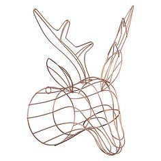 Buy John Lewis Helsinki Copper Wire Deer Head Online at johnlewis.com