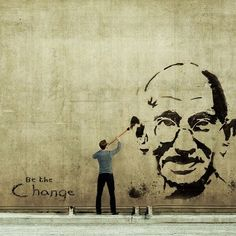 #grafitti #art // in this instance, it's ok to break the rules. #gandhi