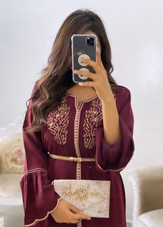 Stylish Dpz, Moroccan Dress, Hijabi Girl, Hijab Style, Girls Dp, Classy And Fabulous, Traditional Dresses, Pearl White, Kaftan