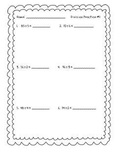 math worksheet : long division practice  long division division and worksheets : Long Division Practice Worksheet