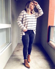 Ideal Clothes For Women Over - Fashion Trends Adrette Outfits, Outfits Mujer, Dinner Outfits, Preppy Outfits, Curvy Outfits, Casual Fall Outfits, Plus Size Outfits, Fashion Over 40, Fashion Pics