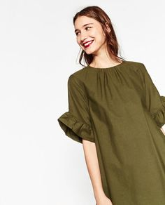 ZARA - WOMAN - JUMPSUIT DRESS WITH FRILL ON SLEEVES
