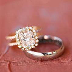 His & hers #gorgeousandengaged #ericacourtney  #weddingday #weddinginspiration #bridal #DreamWedding #SheSaidYes #jewelry #dropdeadgorgeous #jewels #jewelrydesign #diamond #diamonds #engagementring #engagement #diamondring #custom #ring #bridetobe #shesaidyes #sayyes #ido #bride #wedlux #theknot #theknotrings #wedding #love #ringoftheday #dreamring
