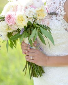 Bride's Pink and Yellow Floral Bouquet | Brides.com