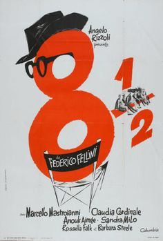 """I could easily pick any of half a dozen posters made for Fellini's """"8 1/2"""", but there's something about the simplicity and whimsy of this one that I particularly enjoy."""