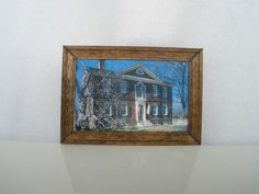 Doll House Miniature Painted Picture Frame House Liberty Hall Frankfort Kentucky