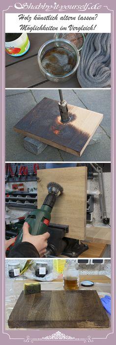 Wie man Holz künstlich altern lassen kann? Ich habe für Euch verschiedene Möglichkeiten gestestet. How to age wood? I checked out different ways and here is the result. Besucht meine Seite, folgt mir und lasst Euch von immer neuen Projekten inspirieren! Follow me an get inspired! Webseite: http://www.shabby-it-yourself.de/ Facebook: https://www.facebook.com/shabbyityourself Instagram: https://www.instagram.com/shabbyityourself/