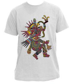 Campaña en crowdence 'Quetzalcoatl Aztec stamp': camiseta con Quetzalcóatl, dios principal en las culturas del mesoamerica prehispanico