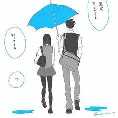 Kiyoko and kuroo sharing an umbrella . Cute 😍    Credit __a_o_k__    #kiyoko #kiyokoshimizu #kuroo #kurootetsurou #kurootetsuro #kuroken #bokutokoutarou #bokuto  #karasuno #shoujo #leviackerman #haikyuu #haikyu #shimizukiyoko #ushijimawakatoshi #akashi #kagehina  #oikawatooru  #kurooxkiyoko #kenmakozume  #tsukki #tsukkiyama #kurotsukki #bokuro #kurokiyo #bokuaka Ushijima Wakatoshi, Bokuto Koutarou, Tsukkiyama, Kuroo Tetsurou, Nishinoya, Iwaoi, Kuroken, Bokuaka, Kagehina