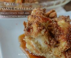 So many recipes for French Toast Casserole call for ingredients like heavy cream, which I don't have nearby! Here's a recipe for French Toast Casserole that uses ingredients already in your kitchen.