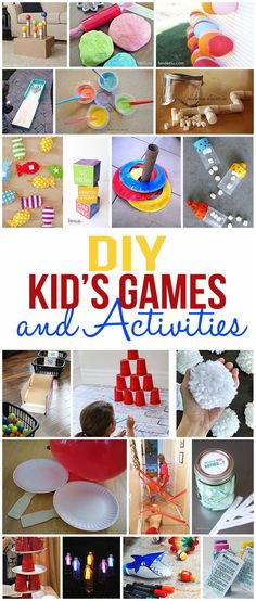 So many fun kids games and activities for you to create and play with your kids!