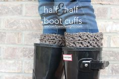 Half & Half Boot Cuffs - Free #Crochet Pattern by Rescued Paw