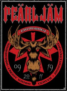 Pearl Jam Event Poster Saskatoon September by Sean Cliver Tour Posters, Band Posters, Music Posters, Event Posters, Pearl Jam Posters, Pearl Jam Eddie Vedder, Music Illustration, Grunge Art, Music Artwork