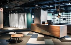 WORKKI: Second Project of Co-Working Space with Modern Interior and Comfortable Environment Bella Duckworth] February 2020 February 2020 Bella Duckworth] October 2016 August 2017 Bella Duckworth] June 2017 J Types Of Furniture, Furniture Design, Best Office, Office 2020, Cocina Office, Office Entrance, Modern Interior, Interior Design, Interior Ideas