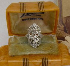 Handmade Art Deco Ring Lacy Filigree Ring Sterling Silver Ring Metalwork size 5, 6, 7. $55.00, via Etsy.