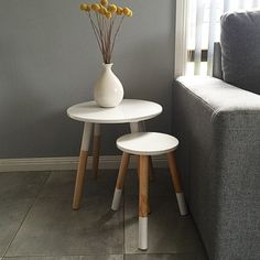 Lightweight casual chair grey kmart apartment pinterest katiemorschel put a kmart side table together with the kids stool and look how amazing greentooth Images