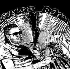 original print Tshirt urban streetware caveman by MoonWalkerT