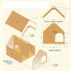 Free Dog House Building Plans | part no size part no size a front back 2 3 4 x 40 x 40 in e internal ...