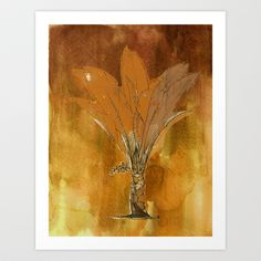 Painted Gold Palm - Art Print by Grimalkin Studio society6.com