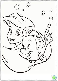 little mermaid coloring page Disney Princess Coloring Pages, Disney Princess Colors, Mermaid Coloring Pages, Disney Princess Drawings, Disney Colors, Coloring Book Pages, Disney Drawings, Disney Canvas Paintings, Winnie The Pooh Drawing