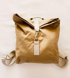 """Half Day Canvas Backpack   A smaller version of the maker's """"over the back"""" style bag, th...   Backpacks"""