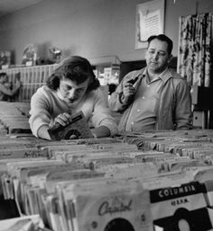 I remember going to the music shop in downtown Laconia (long before their terrible urban renew), doing just this!  It certainly was fun...