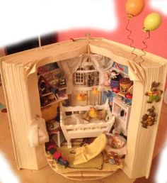 Hey, I found this really awesome Etsy listing at http://www.etsy.com/listing/168161383/dolls-house-miniature-book-scenes-full