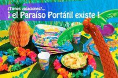 EL PARAISO PORTATIL, EXISTE!  Una decoración muy especial que transformará tu salón, jardín o local en una auténtica playa tropical!    Palmeras Gigantes, Animales exóticos, Cortinas de flores ....